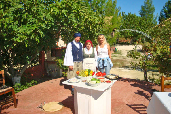 Learning about the traditions of Zante on a local farm