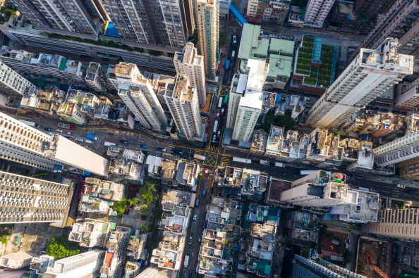Sheung Wan from the air