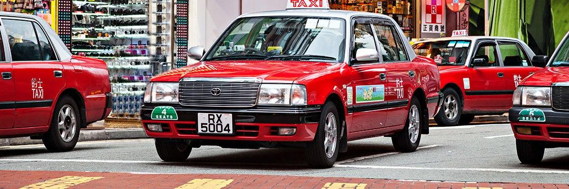 Táxis em Hong Kong