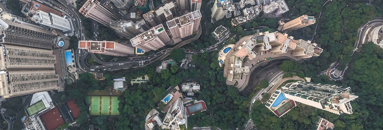 Balade en hélicoptère au-dessus de Hong Kong