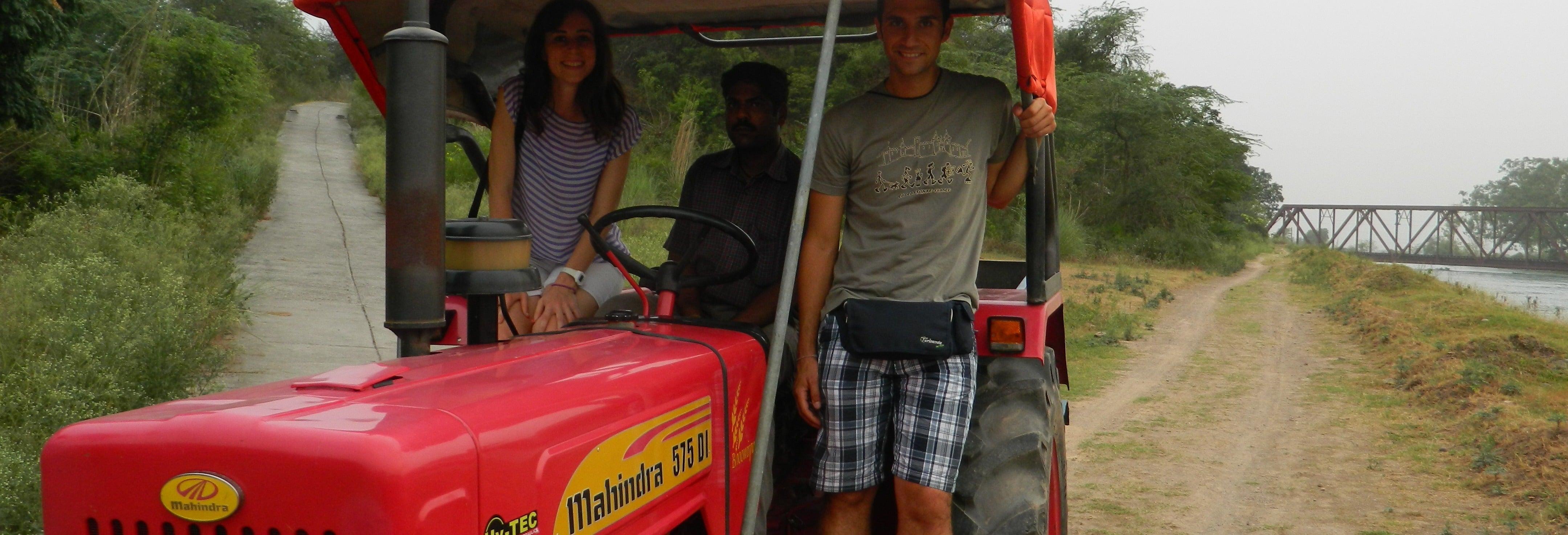 Balade en tracteur dans la campagne d'Agra