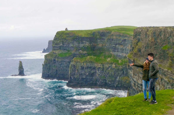 Enjoying the views of the Cliffs of Moher
