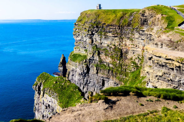 Admiring the Cliffs of Moher
