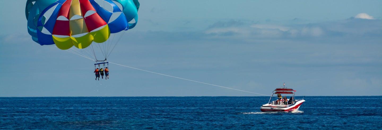 Parachute ascensionnel à l'île Maurice