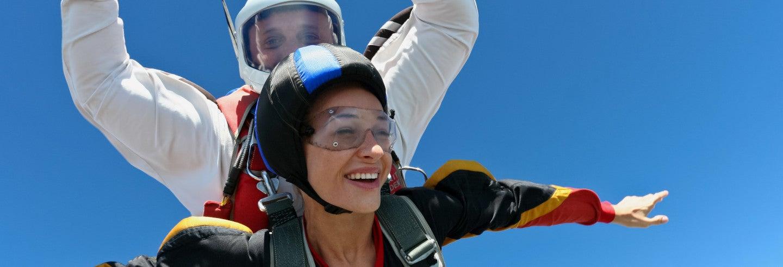 Salto en paracaídas en Isla Mauricio