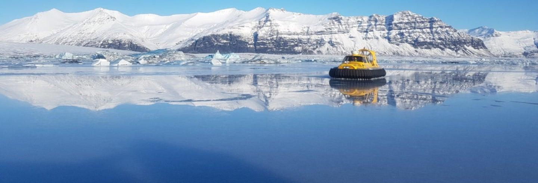 Tour in hovercraft sulla laguna glaciale di Jökulsárló