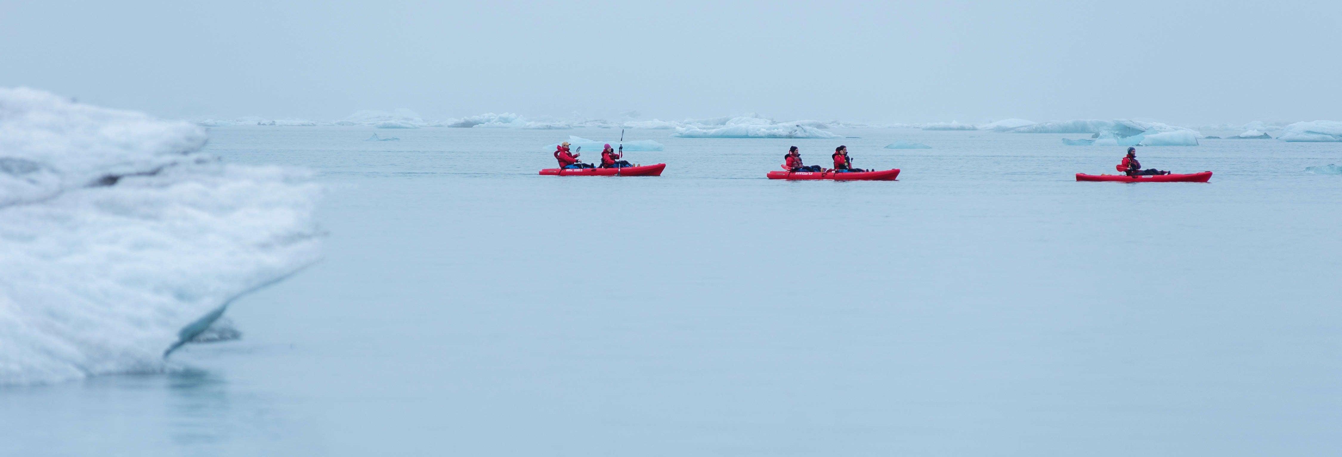 Tour en kayak por el glaciar Vatnajökull