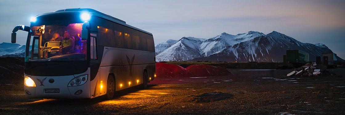 Ônibus na Islândia