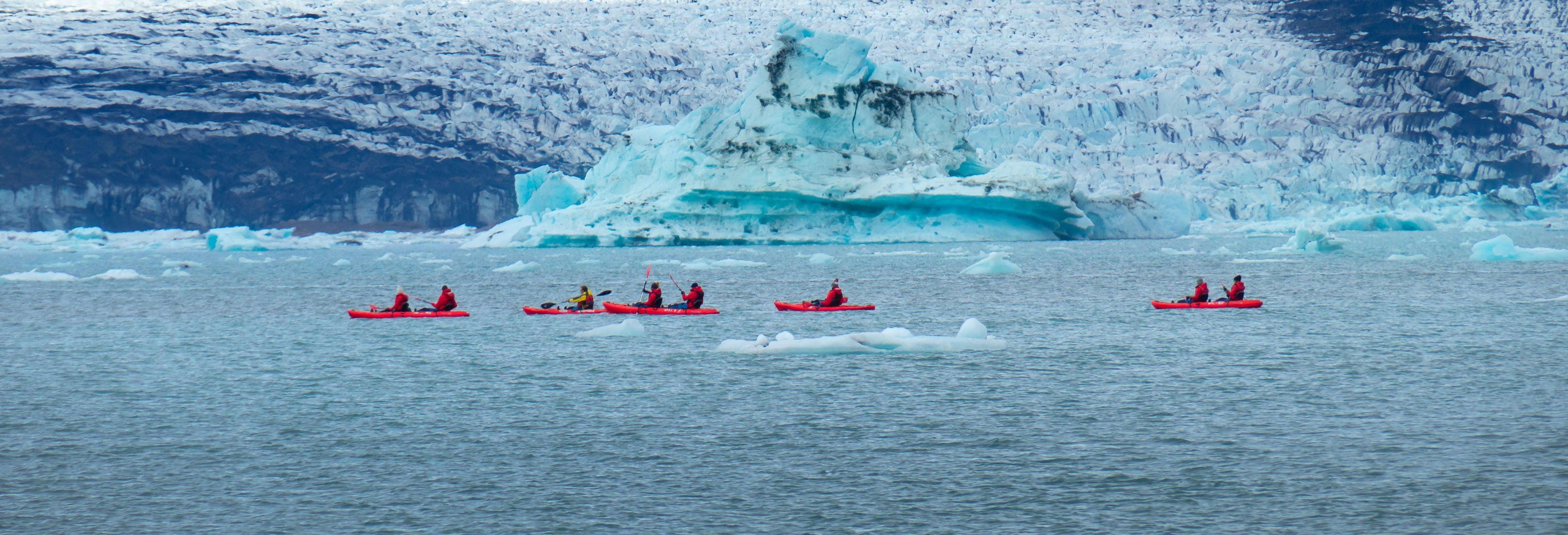 Jökulsárlón Glacier Kayak Tour