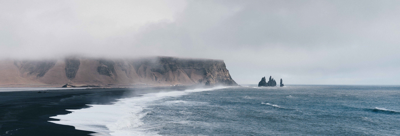 Glaciers et cascades de la côte sud de l'Islande
