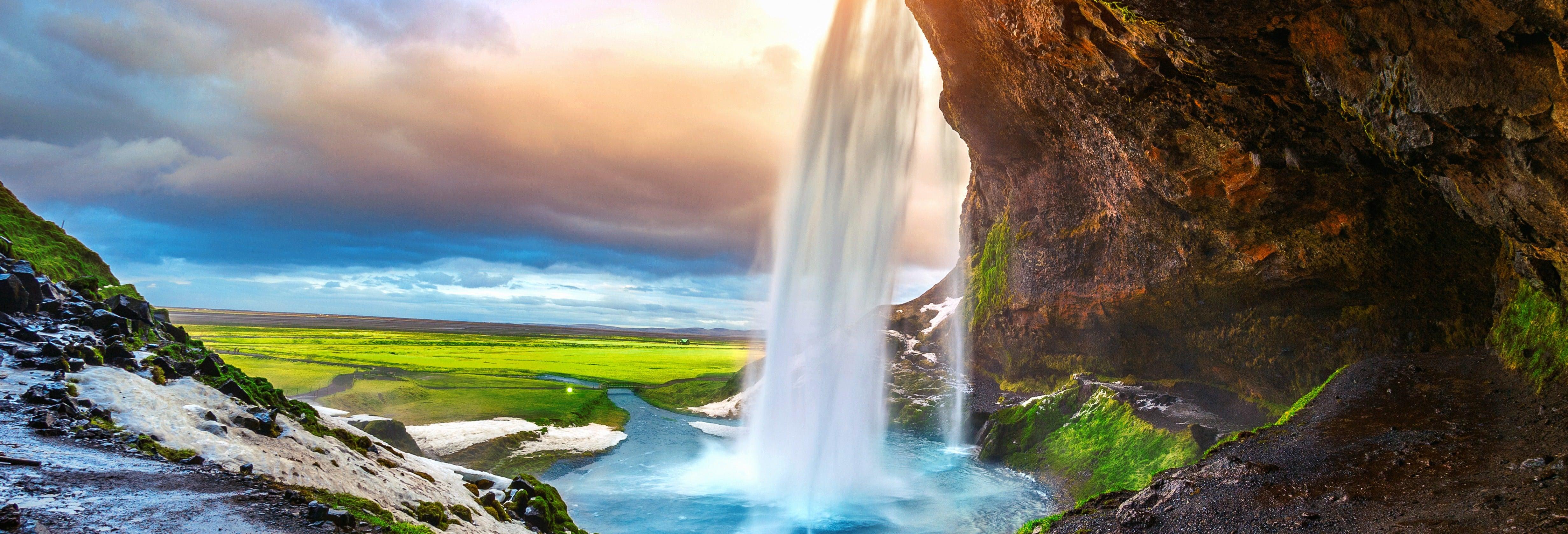 Costa sul e cascatas da Islândia