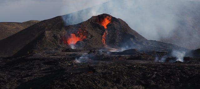 Trekking por el volcán Geldingadalur