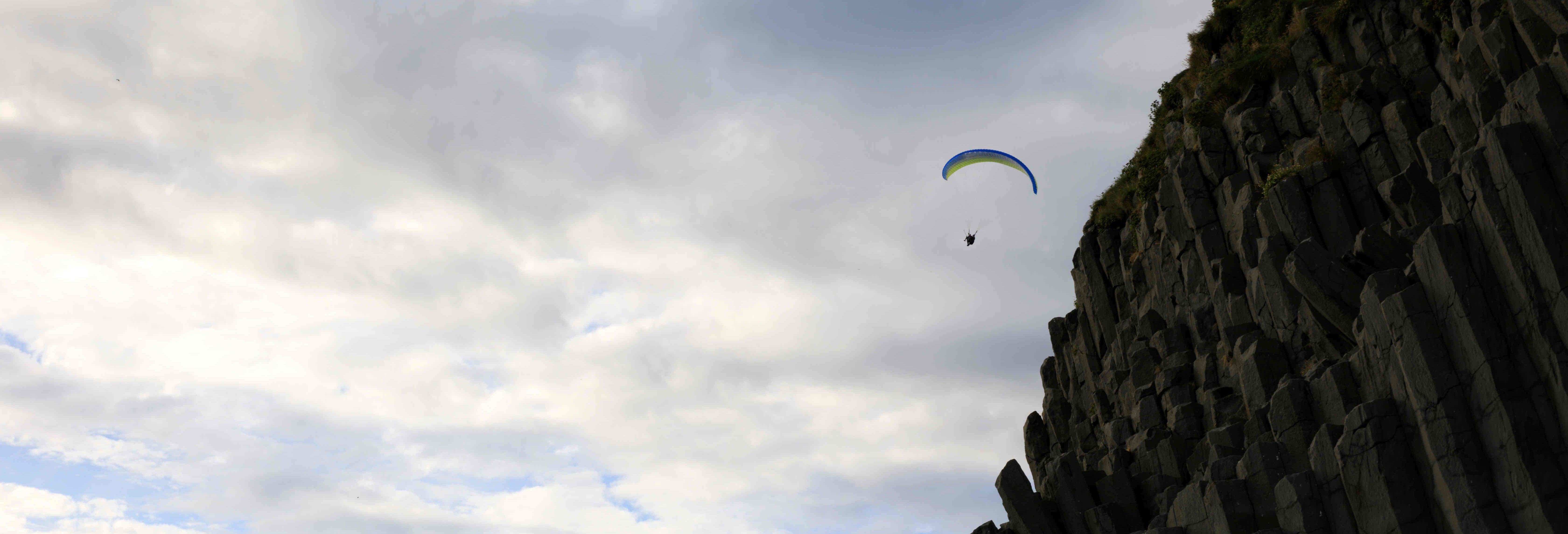 Paragliding in Vik