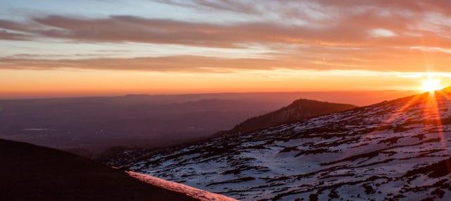 Tour dell'Etna in fuoristrada al tramonto