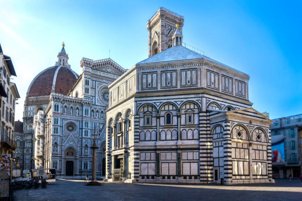 The Baptistery in front of Florence Cathedral