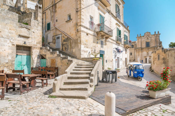 A traditional street in Matera