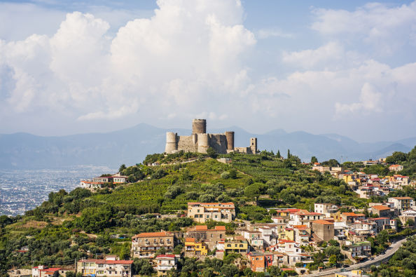 Panoramic view of the Castle of Lettere
