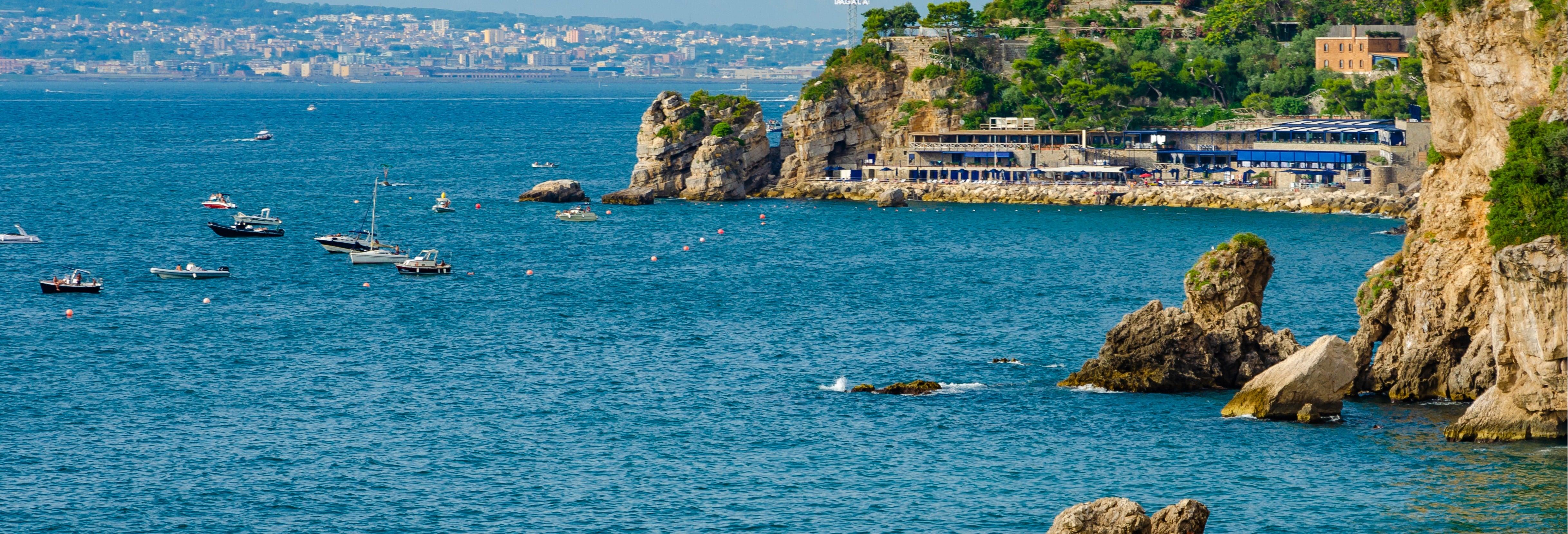 Passeio de barco pela península de Sorrento