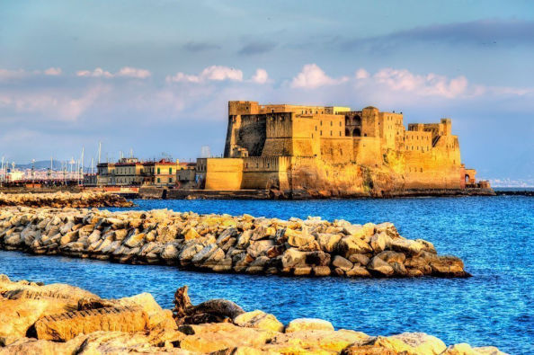 Ovo Castle in the Gulf of Naples