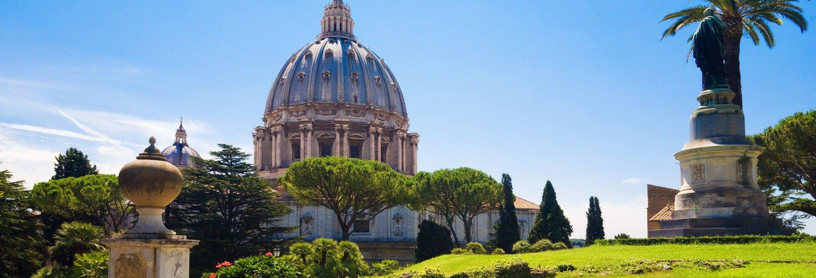 Jardins Vaticanos, Capela Sistina e Basílica de São Pedro