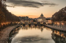 Visite au coucher de soleil dans Rome