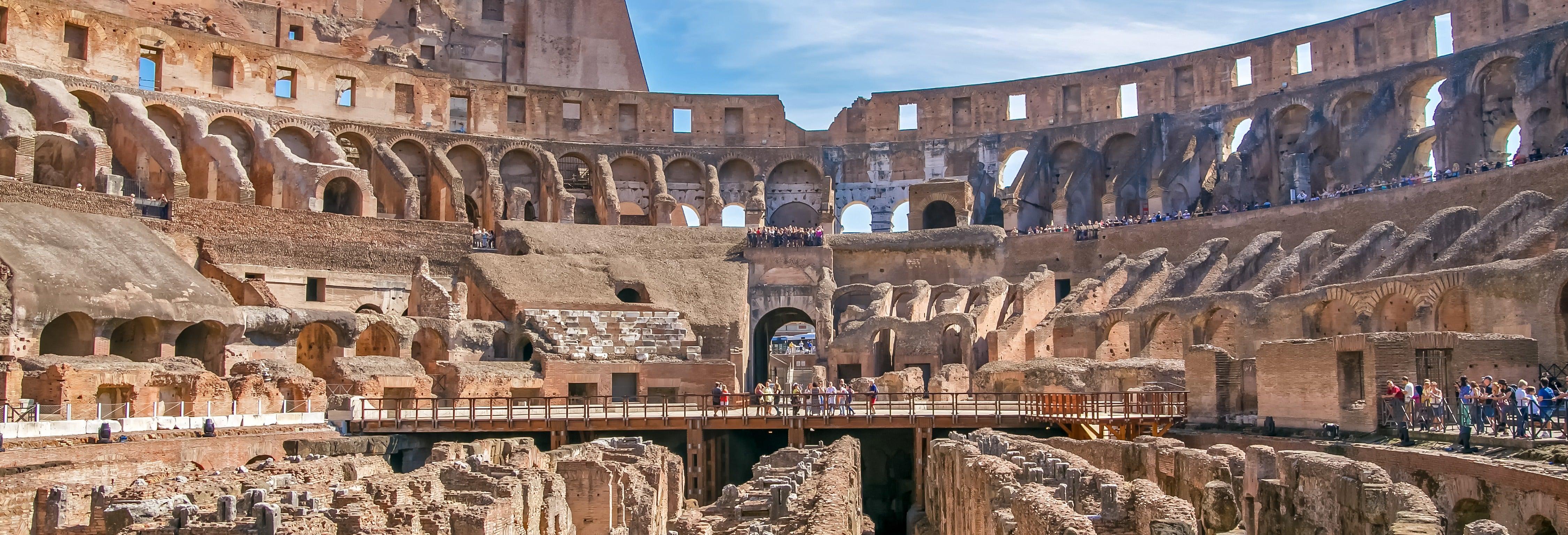 Coliseo Subterráneo + Foro y Palatino