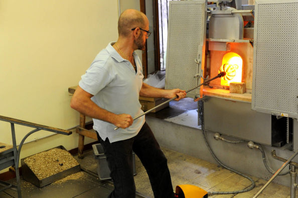Visiting a glass workshop in Venice