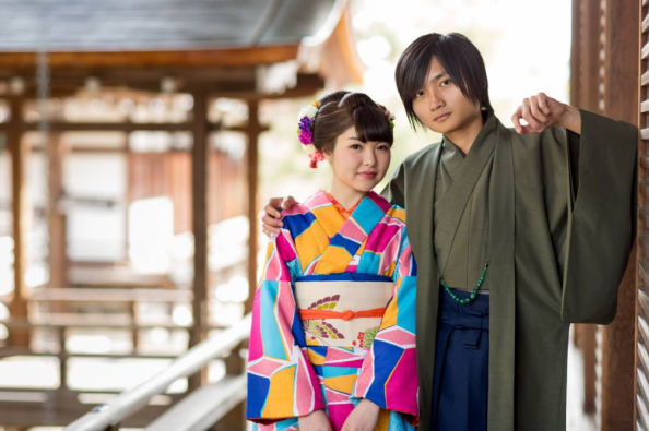 There are kimonos for both men and women