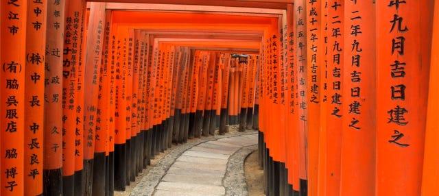 Visita guiada por el santuario Fushimi Inari-Taisha