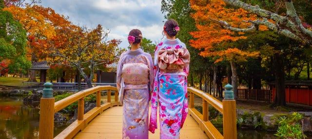 Alquiler de kimono en el Parque de Nara