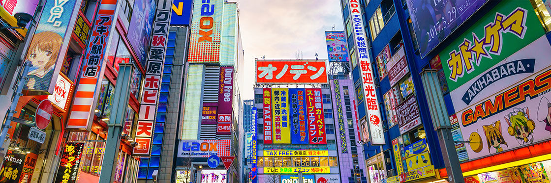 Electronics and photography in Tokyo