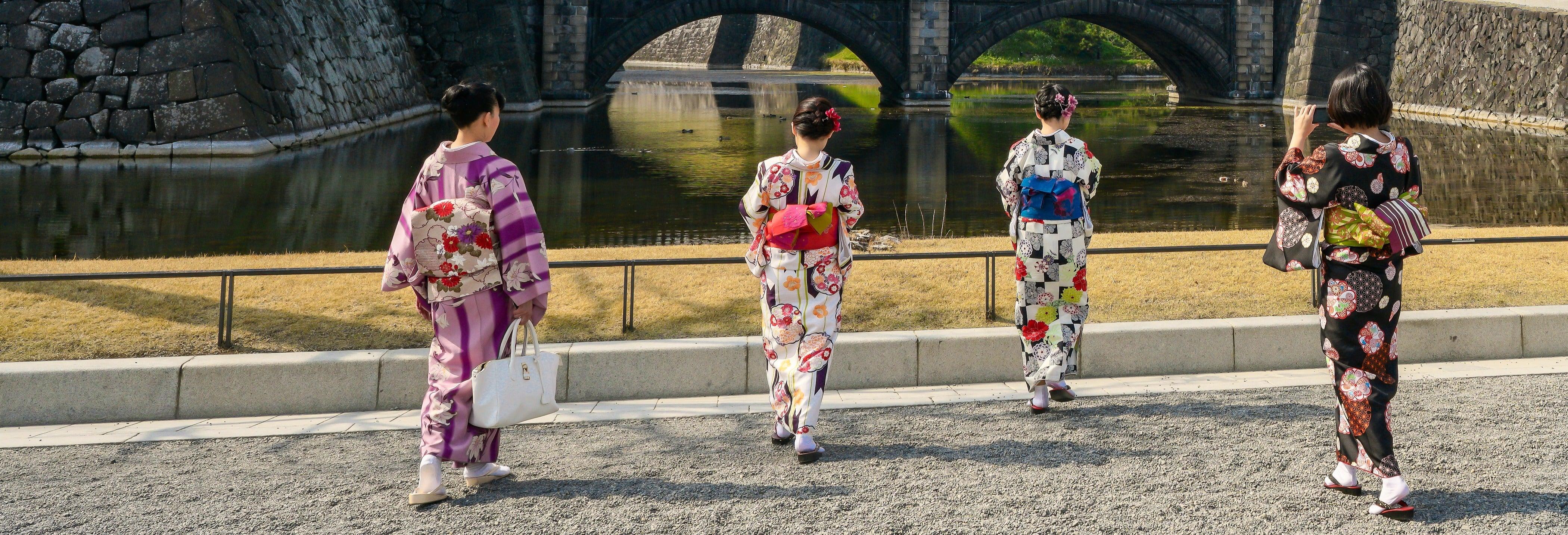 Visite en kimono dans Asakusa
