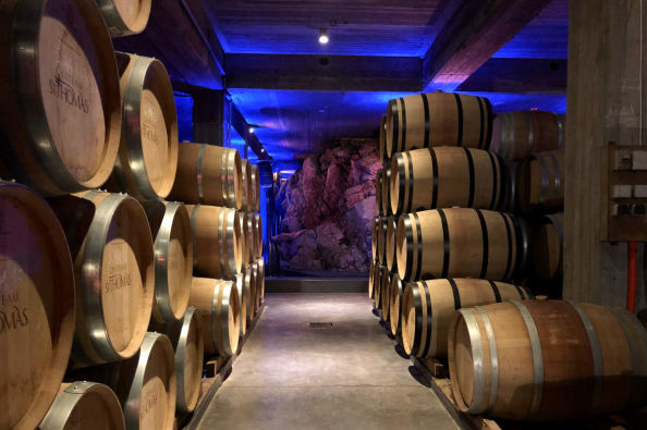 Inside one of the wineries