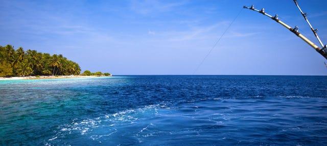 Pêche au lever du soleil ou coucher du soleil à Addu