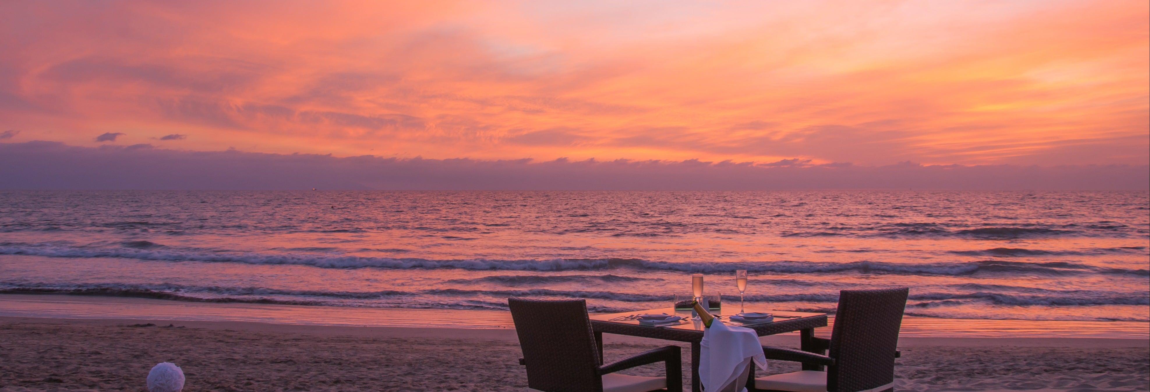 Cena en la playa de Maafushi