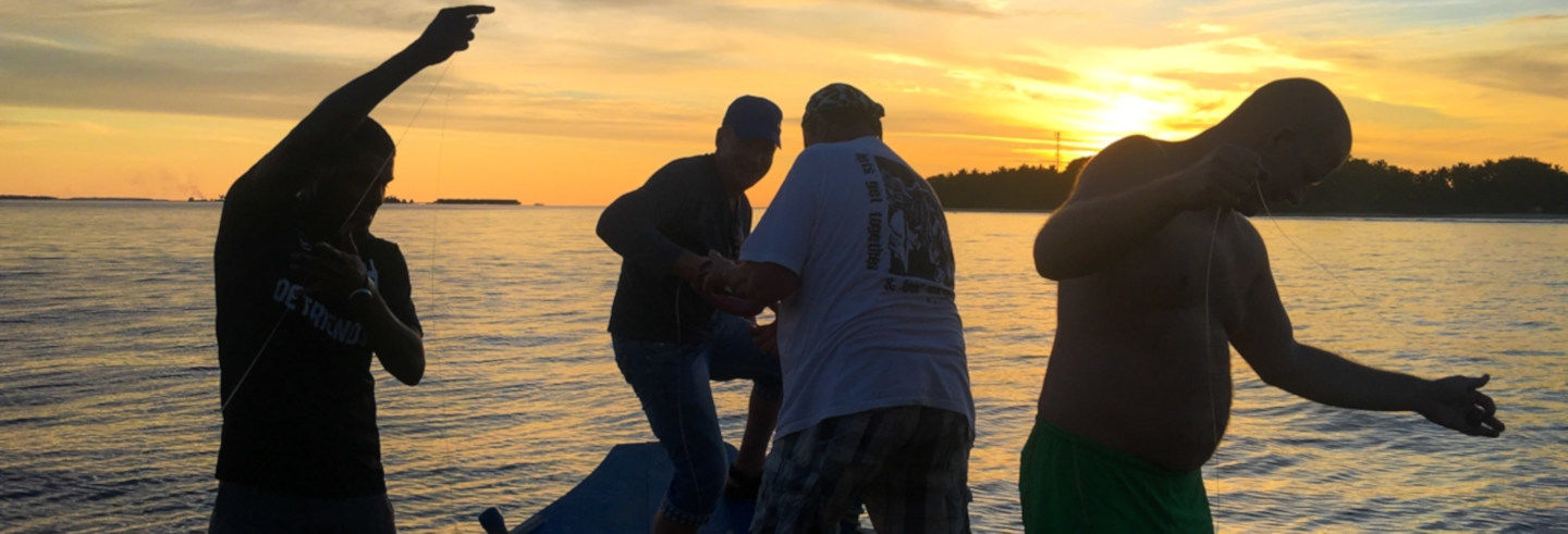 Pesca nocturna en Maafushi