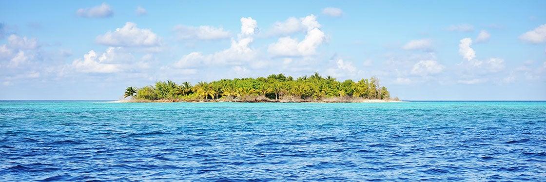 Passeio numa ilha deserta