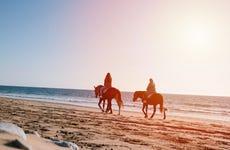 Paseo a caballo por la costa de Agadir