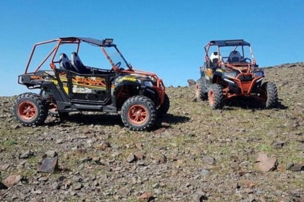 Buggy vehicles in the High Atlas mountains