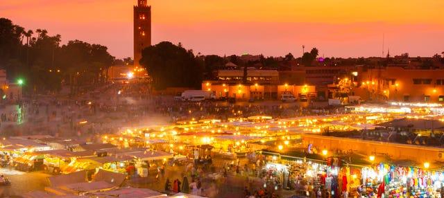 Marrakech de noche, tour en calesa