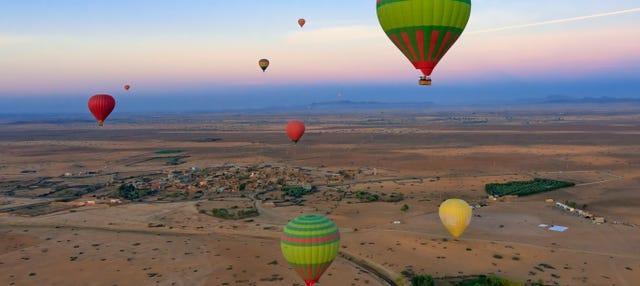 Paseo en globo por el norte de Marrakech