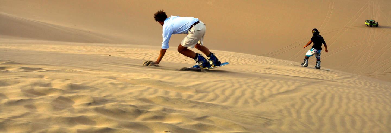 Sandboard nas dunas de Chachalacas