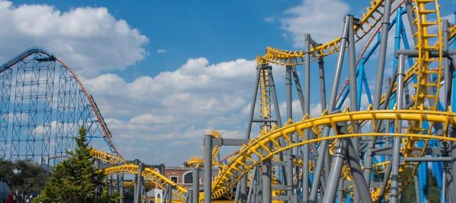 Ingresso do parque Six Flags