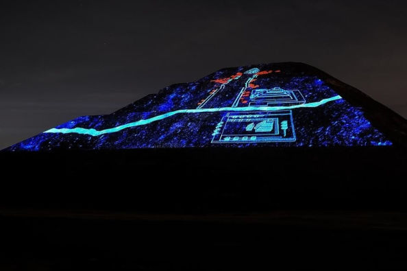 Light and sound show in Teotihuacán