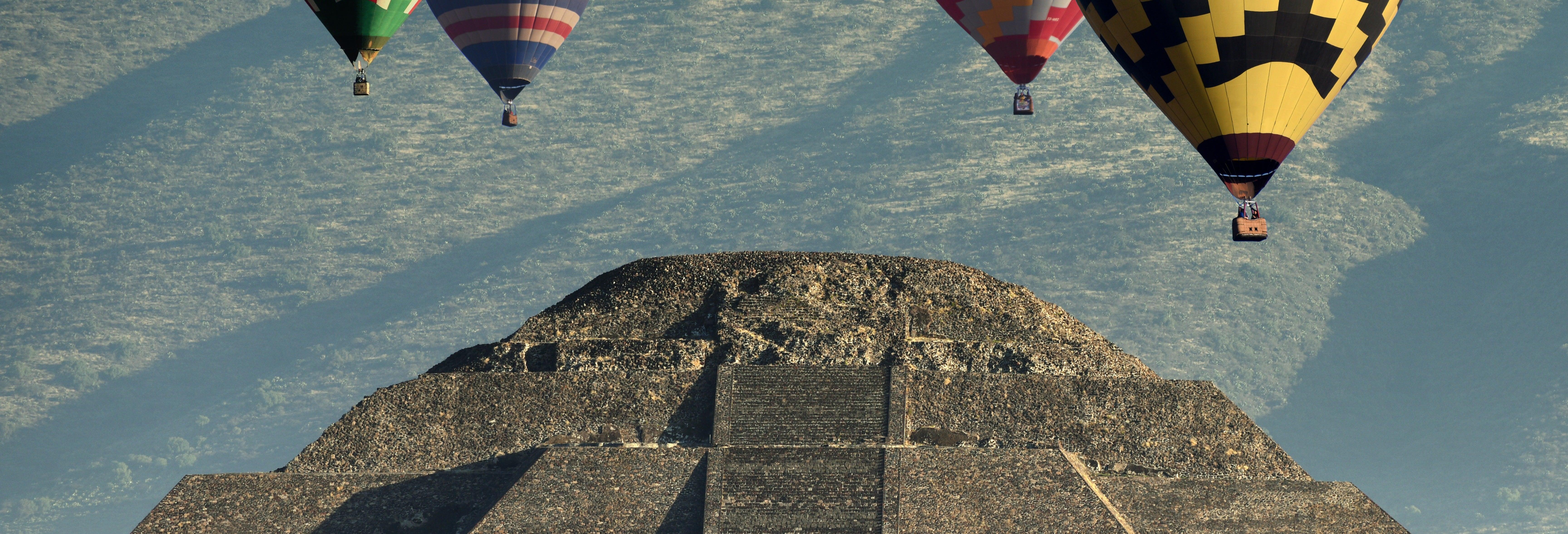 Giro in mongolfiera su Teotihuacan