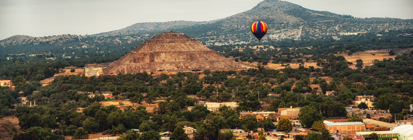 Teotihuacán Private Hot Air Balloon Flight
