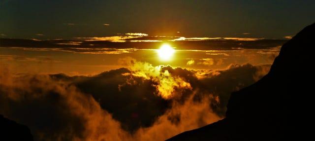 Trilha pelo vulcão Nevado de Toluca ao amanhecer