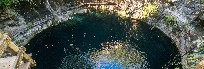 Entrada al cenote Xcanché