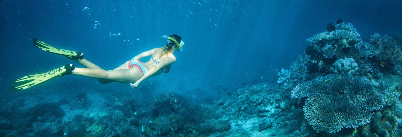 Snorkeling a Huatulco