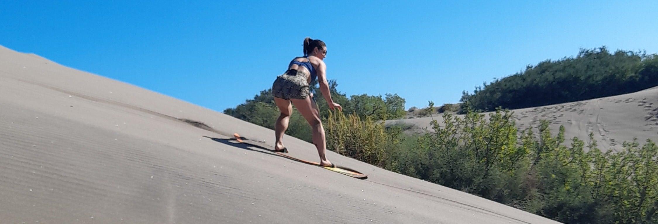 Sandboarding en la playa El Mogote desde La Paz